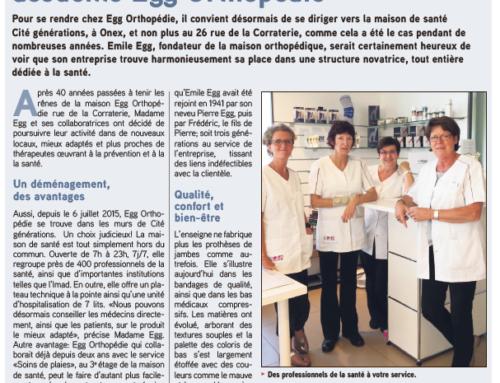 La maison de santé Cité générations accueille Egg Orthopédie