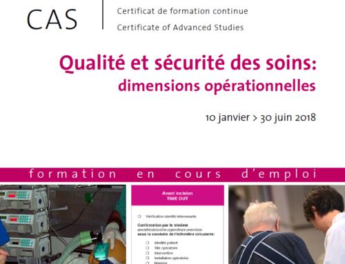 Qualité et sécurité des soins: dimensions opérationnelles